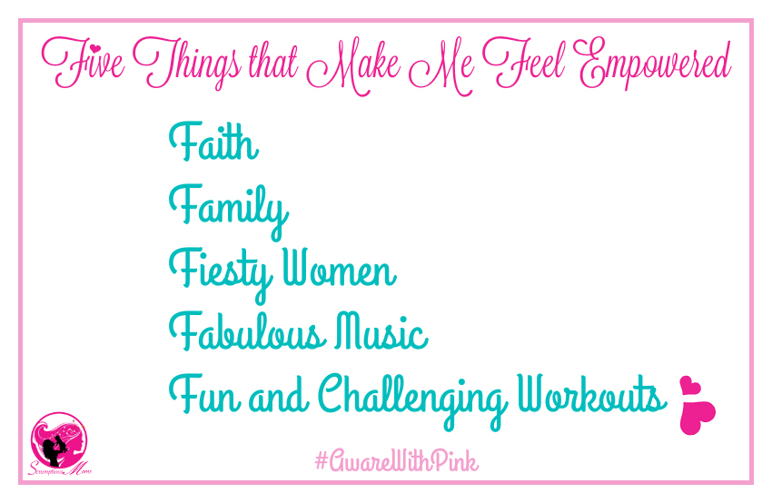 Five things that make me feel empowered graphic