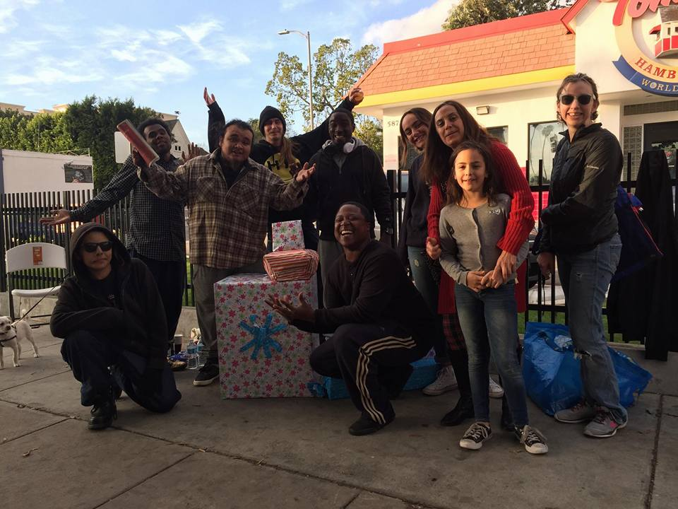 New Year's Day with Homeless friends