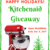Kitchen Aid Mixer Giveaway graphic