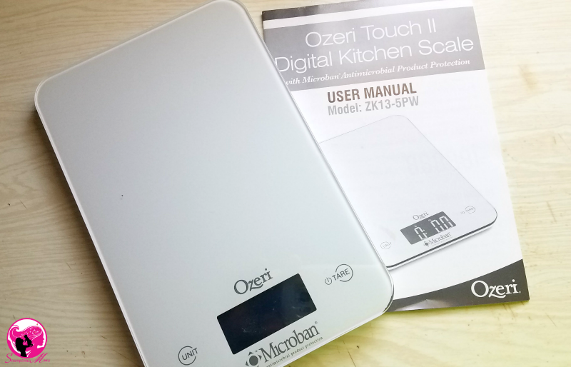 Ozeri Touch II Digital Scale and Manual
