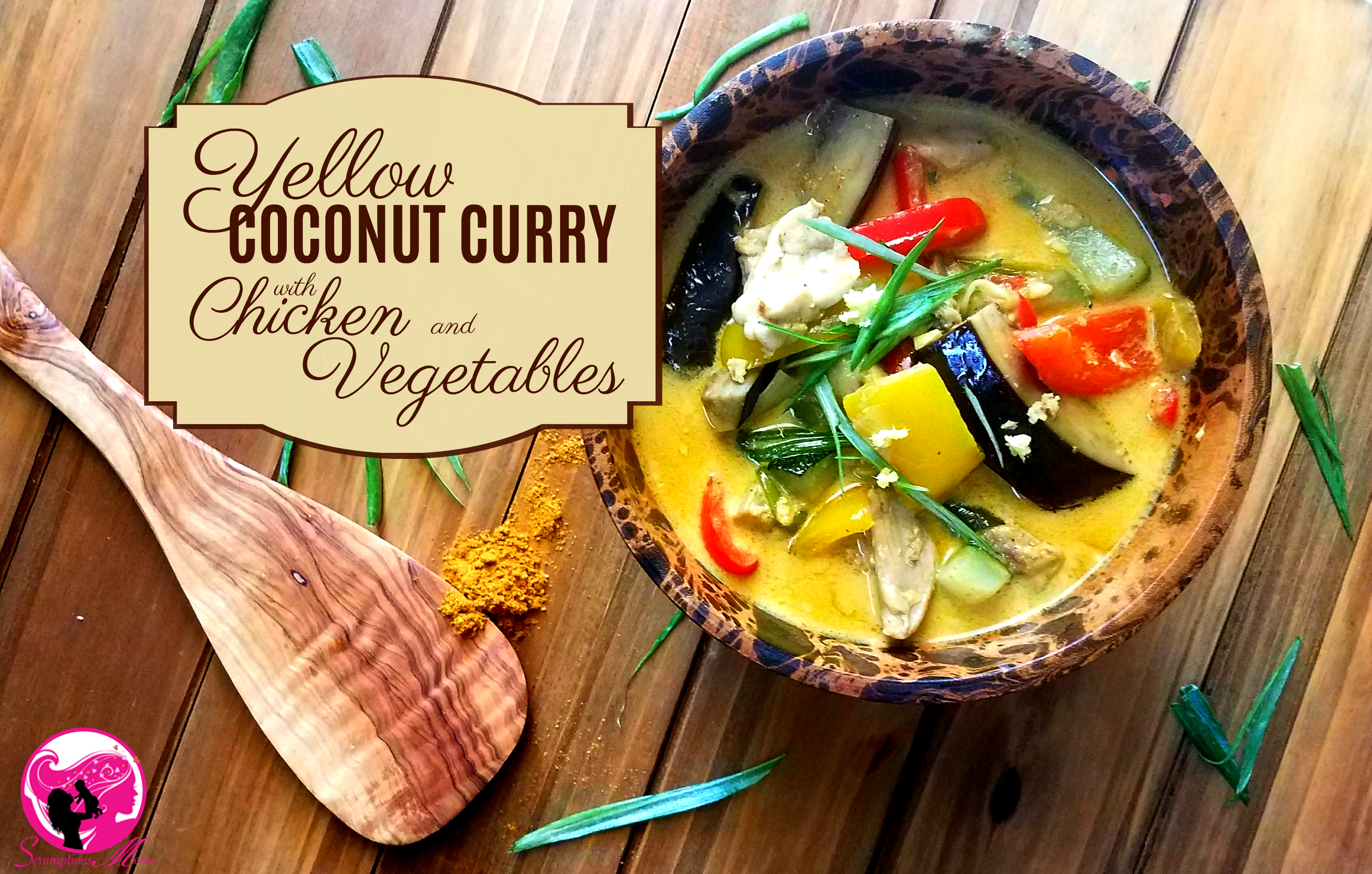 Yellow Coconut curry with Chicken and vegetables