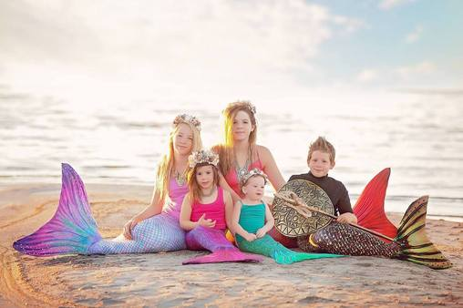 Sun Tail Mermaid family