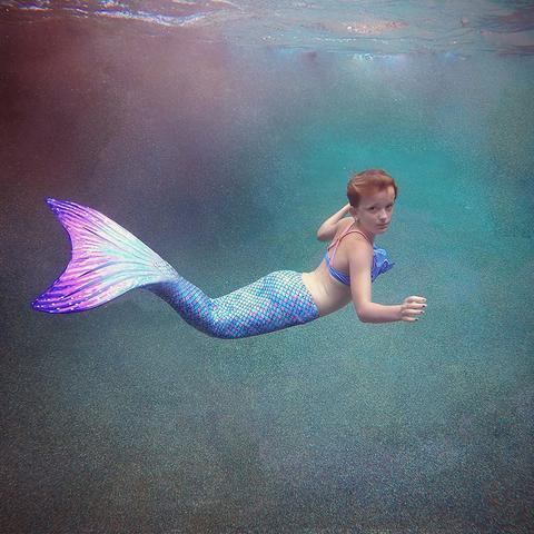 Swimming with a Suntail Mermaid Tail