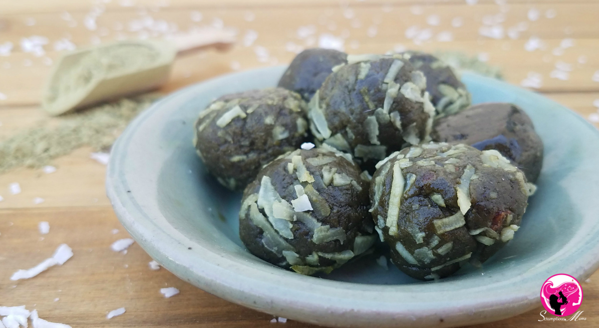 Serving of Matcha Protein Balls